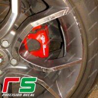 adesivi kit pinze freni logo Alfa Romeo pre intagliato