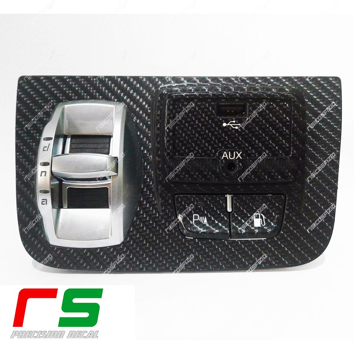 adhésifs Alfa Romeo Giulietta look carbone USB AUX START & STOP stickers