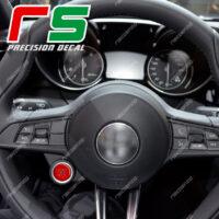 adesivi Alfa Romeo Giulia Stelvio adesivi tasto start engine stop