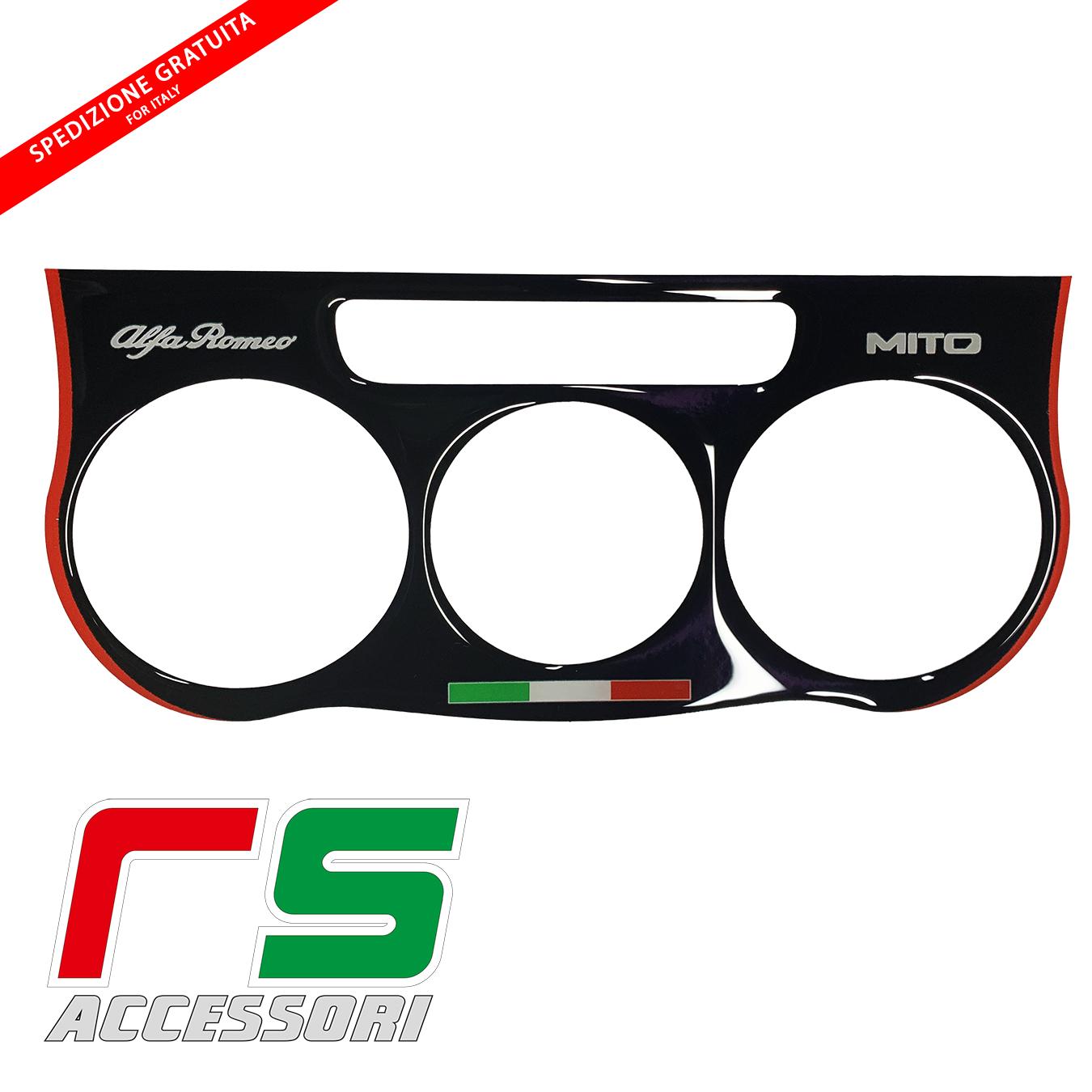 Alfa Romeo Mito STICKERS climatiseur manuel résiné noir