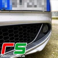 Alfa Romeo Mito Decal bumper inserts carbonlook tuning bocanegra
