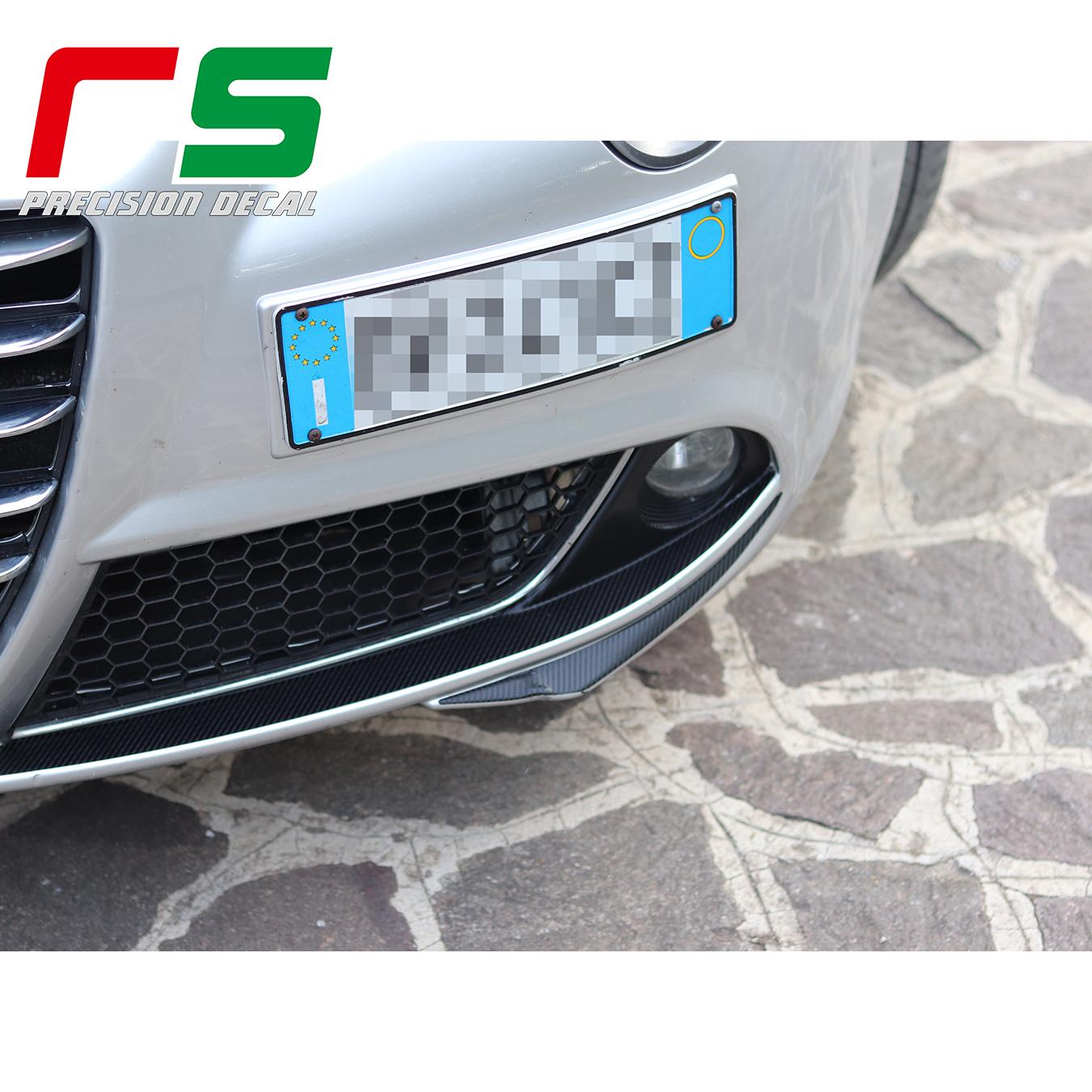 Alfa Romeo Mito Aufkleber Stoßstangeneinsätze Schnurrbart Nebelscheinwerfer Carbonlook Tuning