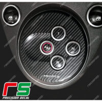 500 595 695 abarth ADESIVI carbonlook cover cambio MTA