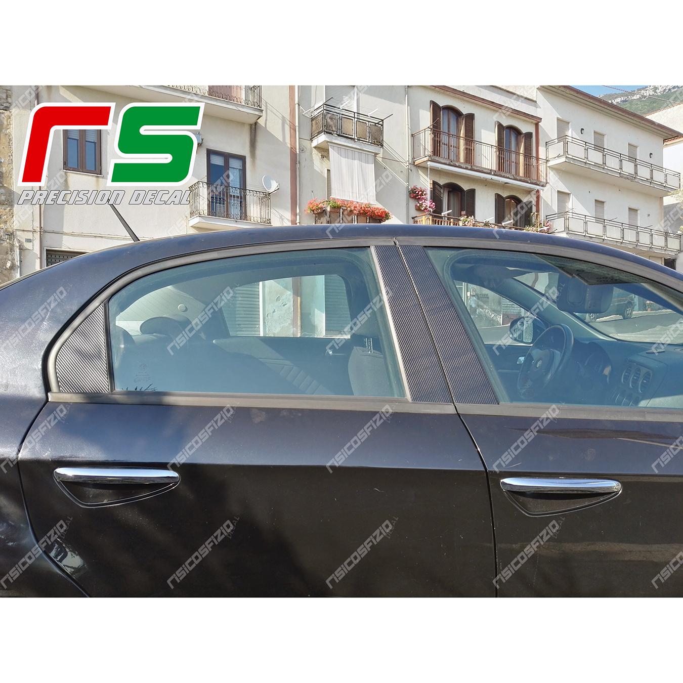 adesivi Alfa Romeo 159 carbonlook montanti portiere Decal
