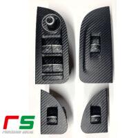 Alfa Romeo Giulia adesivi pulsantiere alzacristalli Decal carbonlook