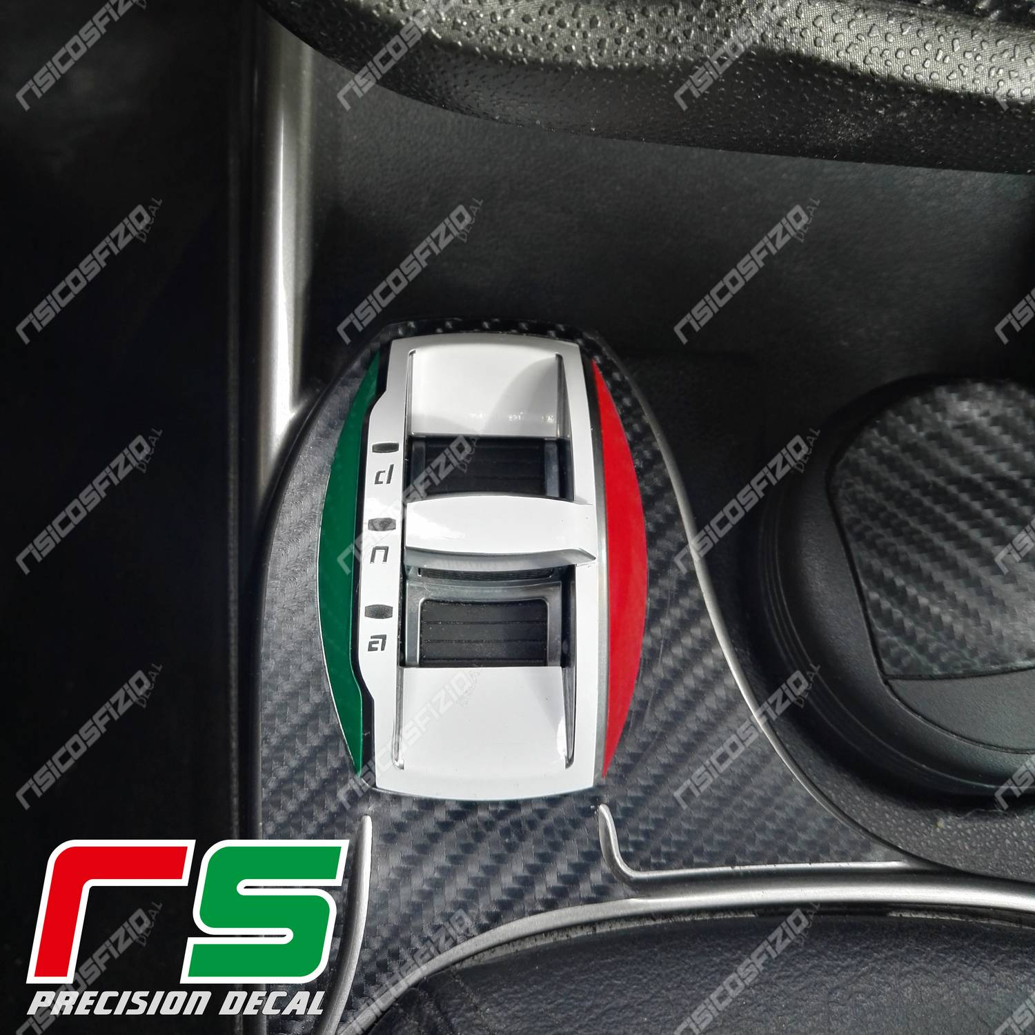 stickers Alfa Romeo mito decal Italian tricolor DNA carbon look