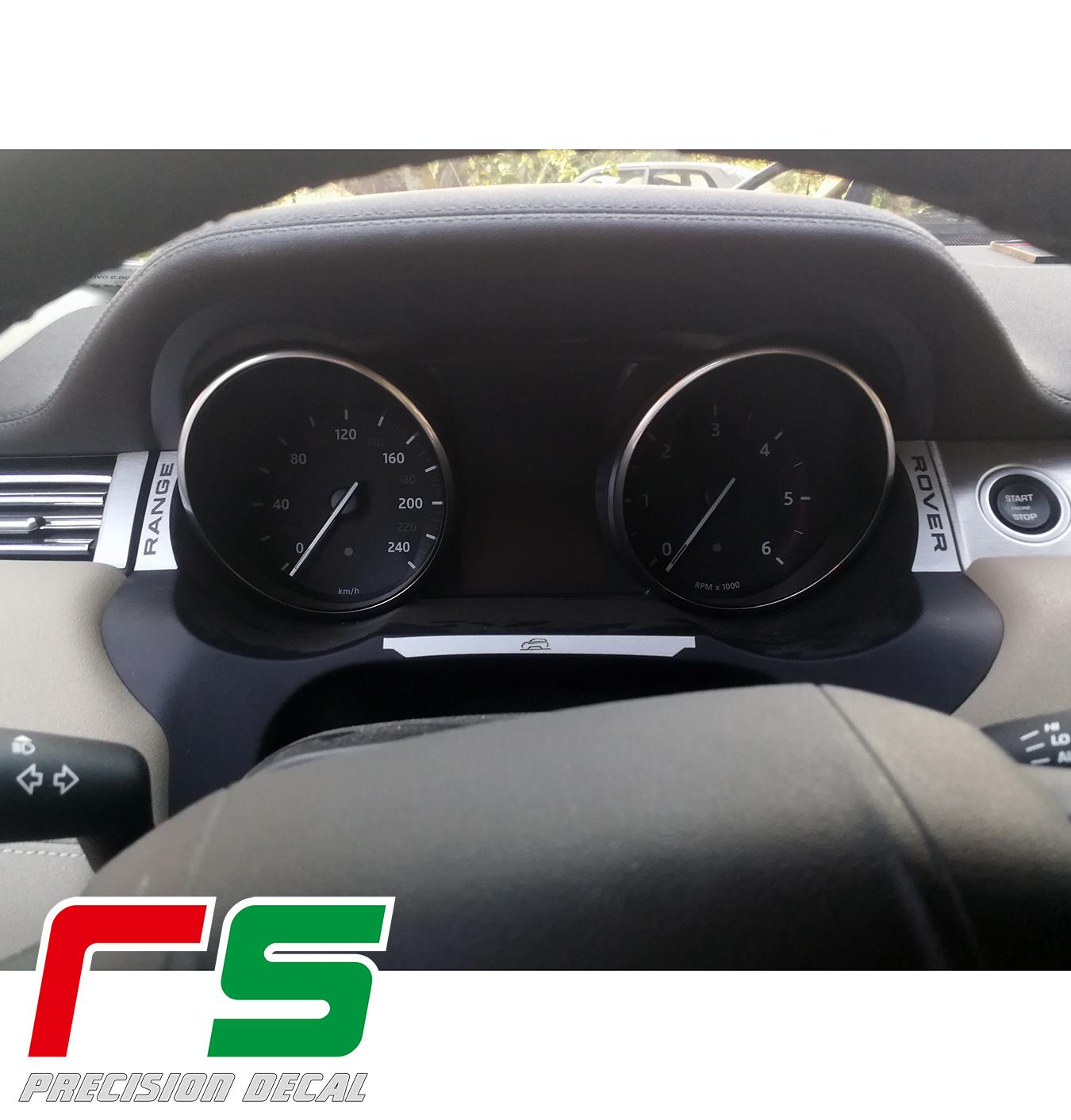 Autocollants décalque Range Rover Evoque, inserts de tableau de bord