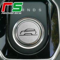 range rover evoque ADESIVI simil alluminio decal selettore cambio sticker