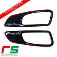 black resin stickers alfa romeo 159 frames door levers
