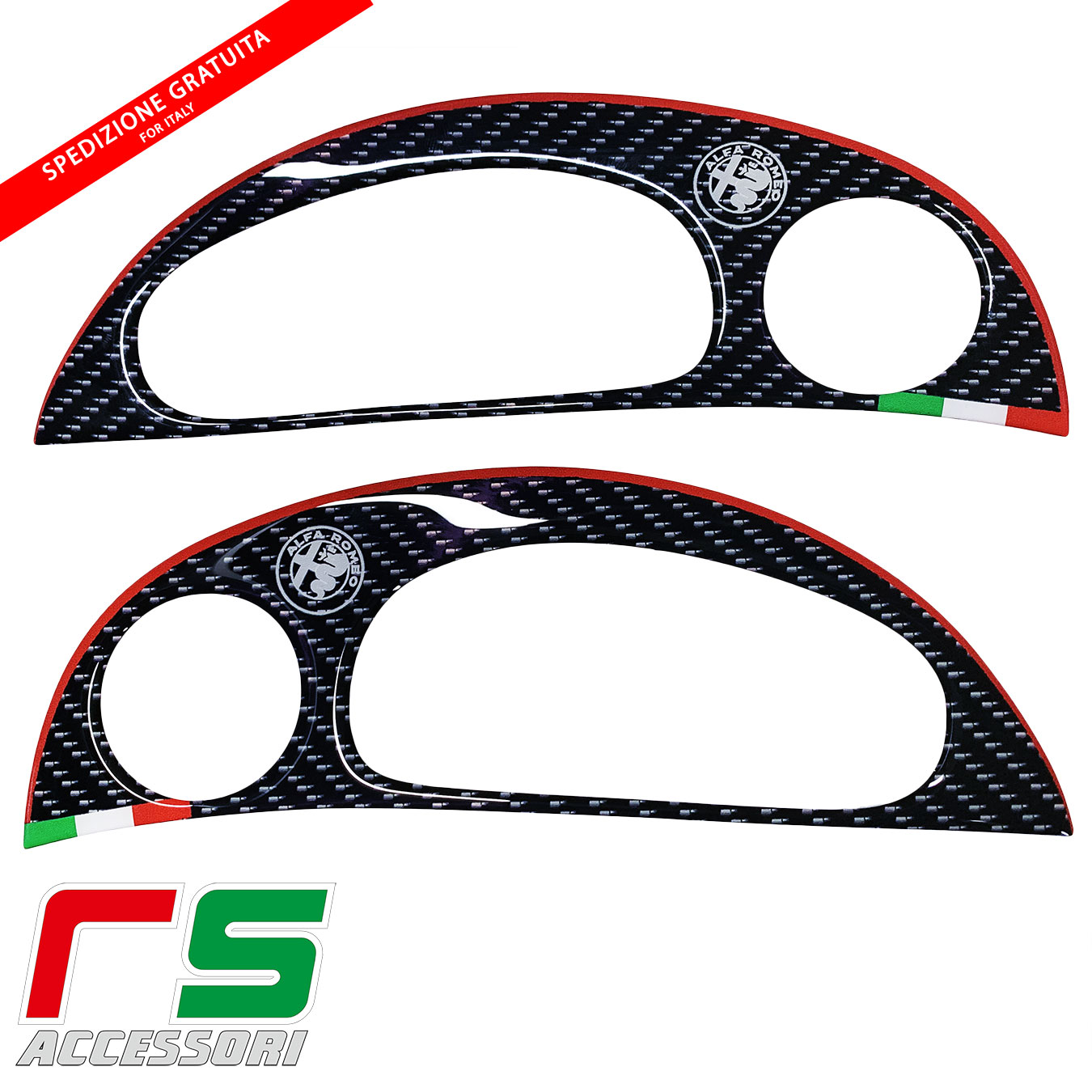 alfa romeo 147 resin stickers and GT tweeter frames