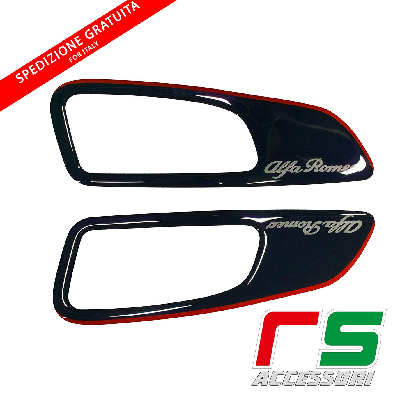 black resin stickers alfa 159 rear door frames
