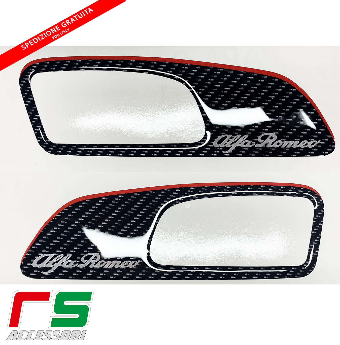 alfa romeo 159 resin coated stickers front door lever molding