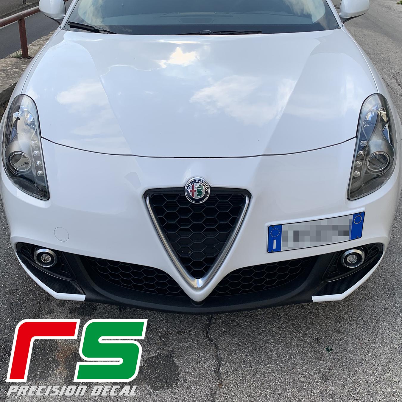 Alfa Romeo Giulietta Decal paraurti inserti baffi carbonlook sticker tuning
