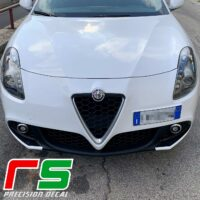 Alfa Romeo Giulietta Decal bumper inserts mustache carbonlook sticker
