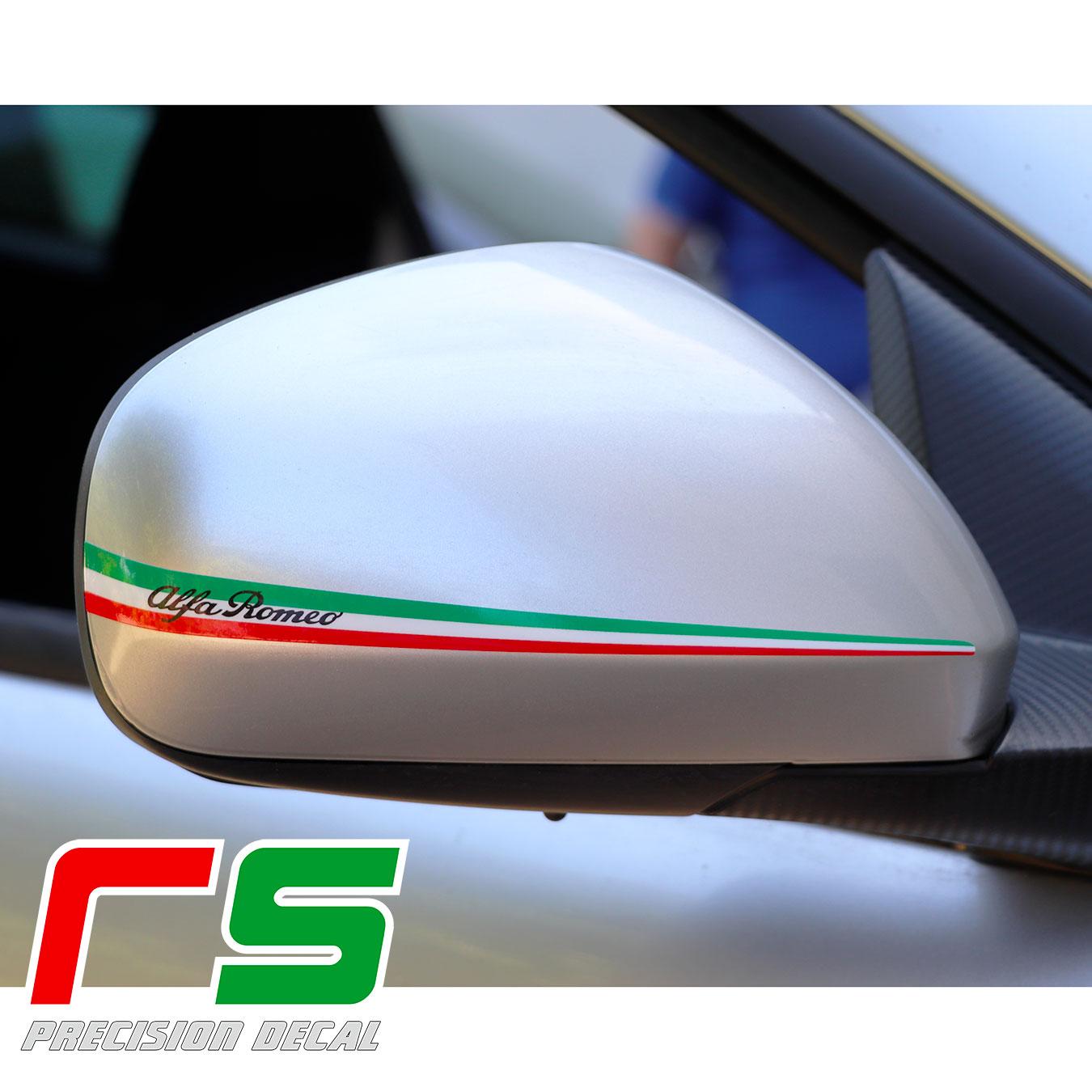 stickers tricolores rétroviseurs Alfa Romeo Mito Giulietta 159
