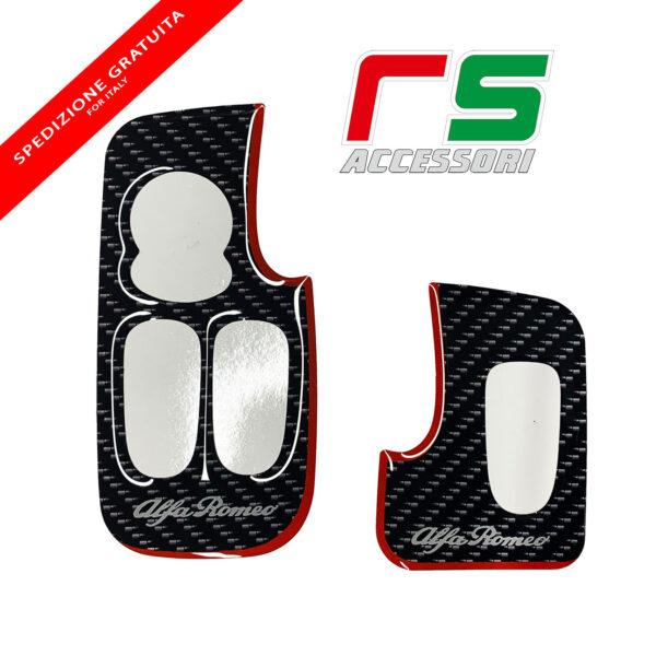 alfa romeo 147 3 porte GT ADESIVI resinati pulsantiera alzacristalli