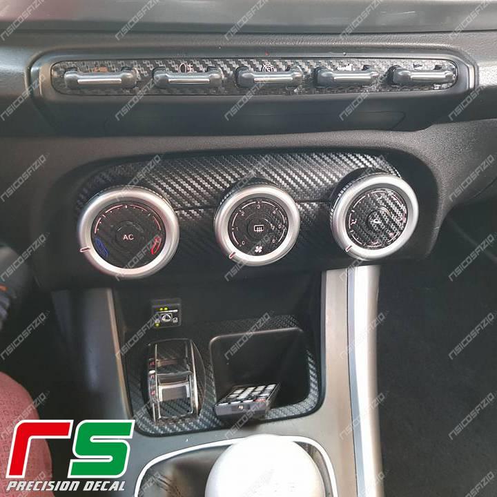 adhésifs Alfa Romeo Giulietta effet carbon sticker climatisation manuelle