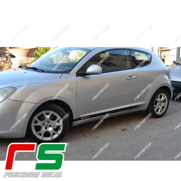 Alfa Romeo Mito adesivi strisce laterali fiancata replica veloce