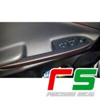 adesivi Alfa Romeo Giulietta Decal carbonlook pulsantiera alzacristalli lunga