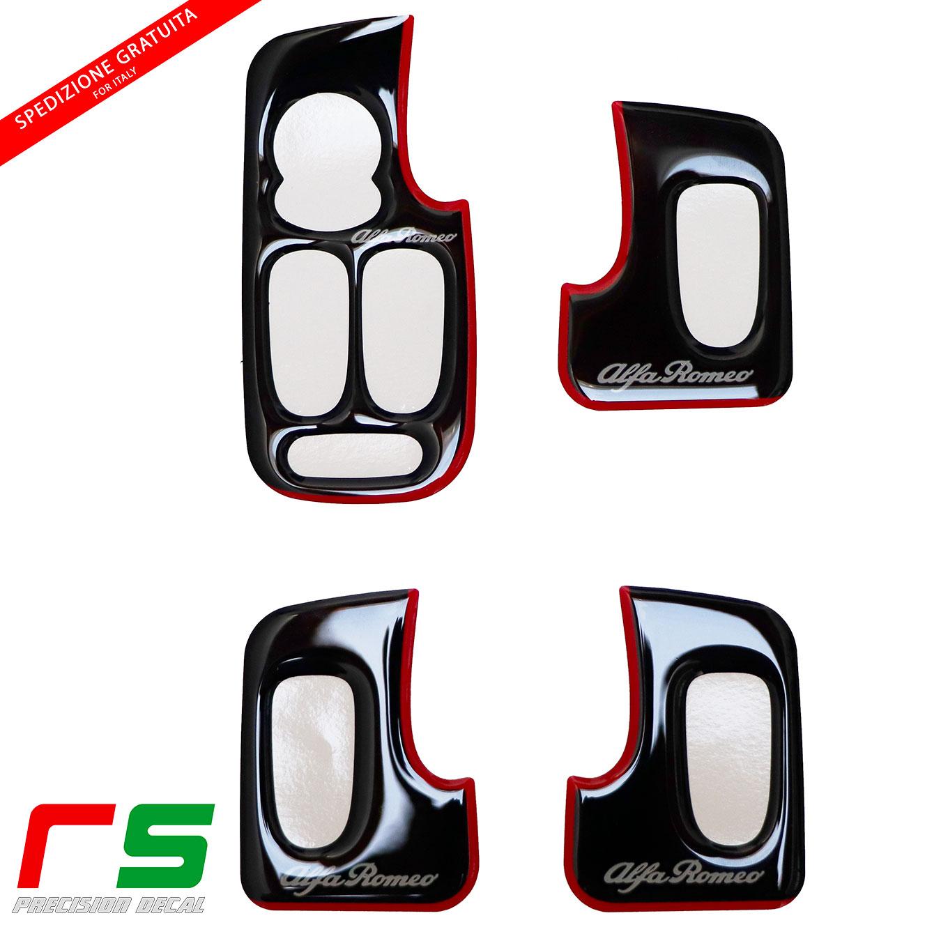 alfa 147 5 portes enduit de résine autocollants noir lève-vitre
