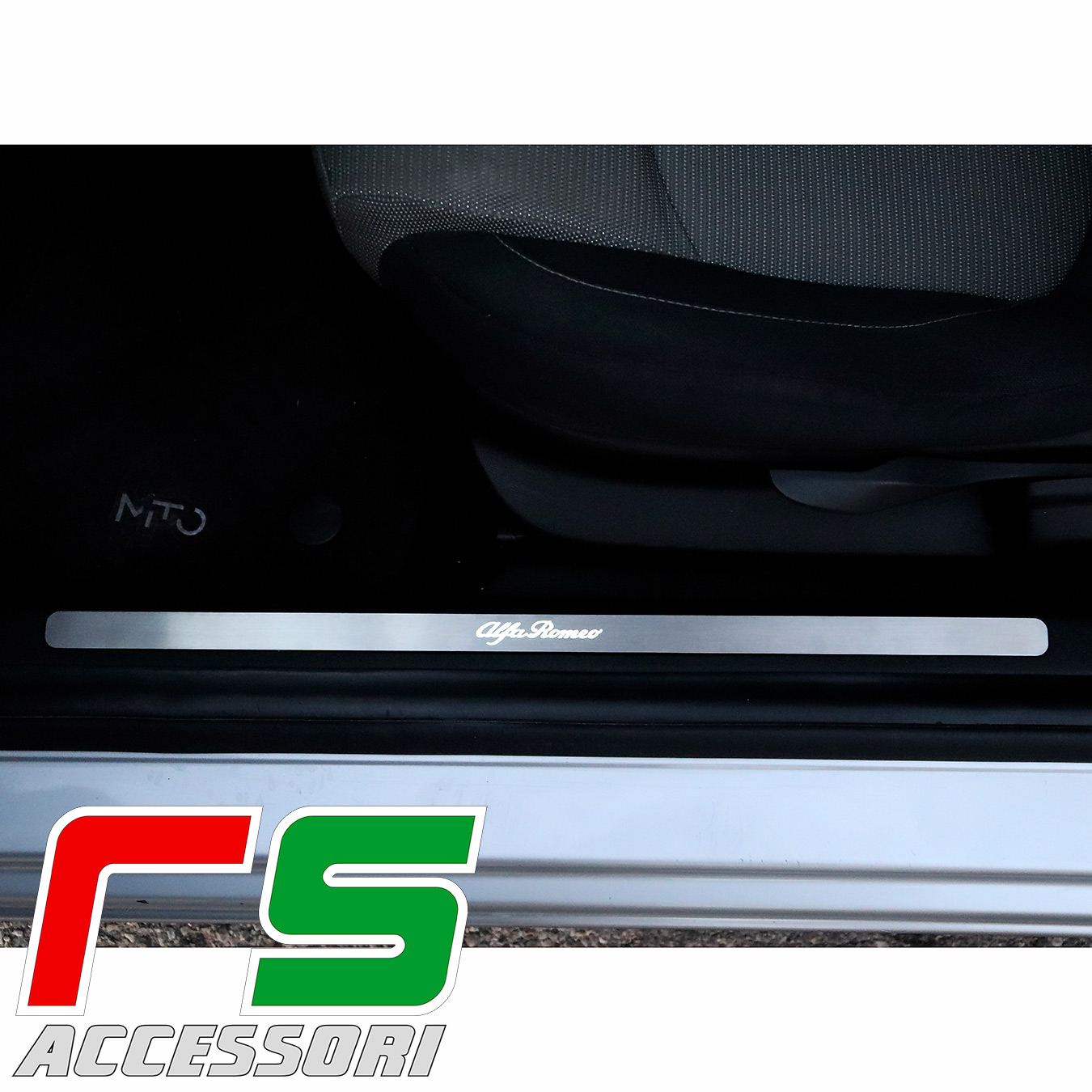 sill-on sill plate Alfa Romeo Mito under-side platform in stainless steel