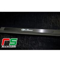 soglia battitacco sottoporta Alfa Romeo 159 acciaio inox illuminato
