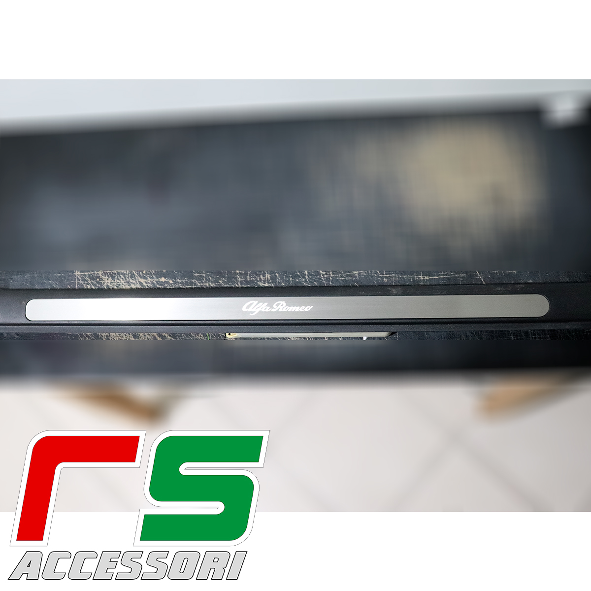 door sill threshold Alfa Romeo GT lighted stainless steel