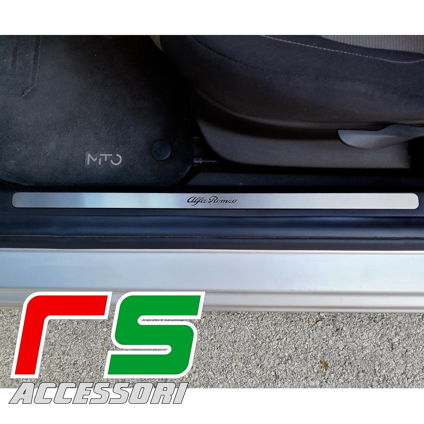 soglia battitacco Alfa Romeo Mito sottoporta in acciaio inox