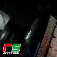 battitacco Alfa Romeo Giulia soglia illuminata carbonlook