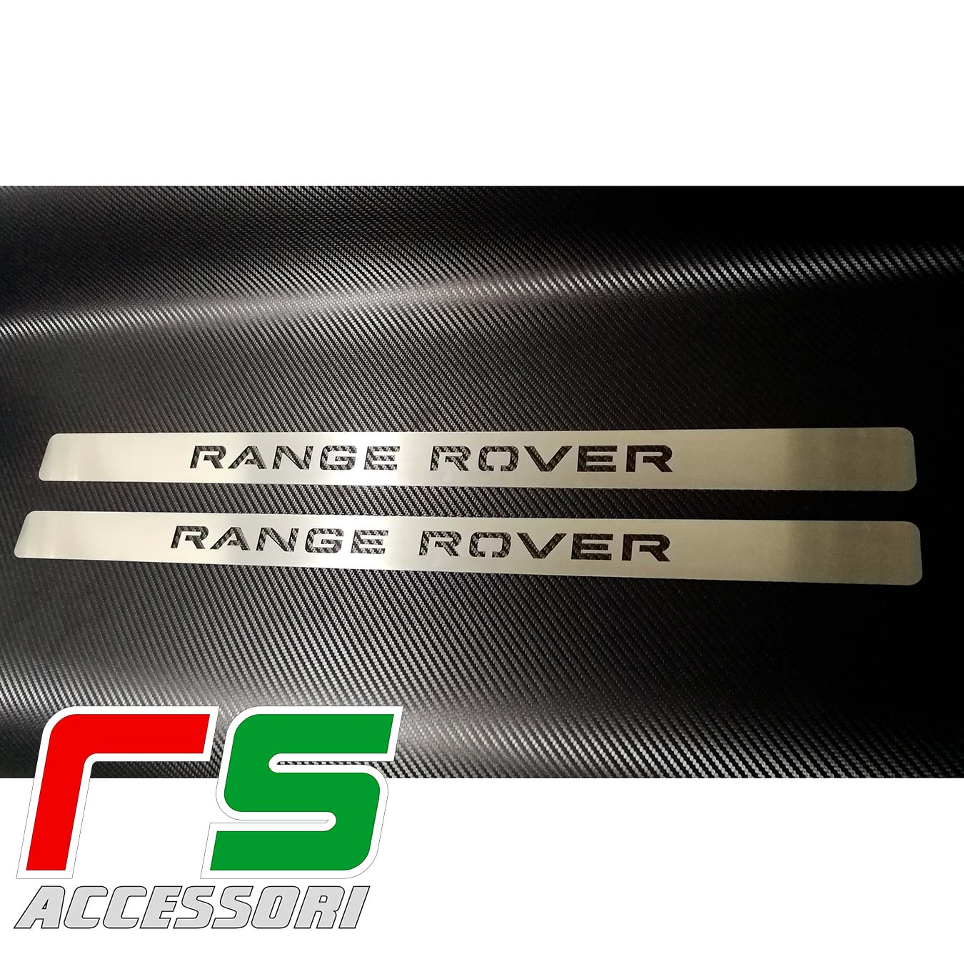 sill plate sill board Range Rover Evoque coupè in stainless steel