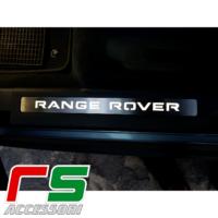 battitacco illuminato sottoporta Range Rover Evoque acciaio inox