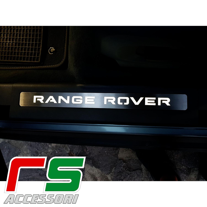 Range Rover Evoque seuil illuminé sous porte en acier inox