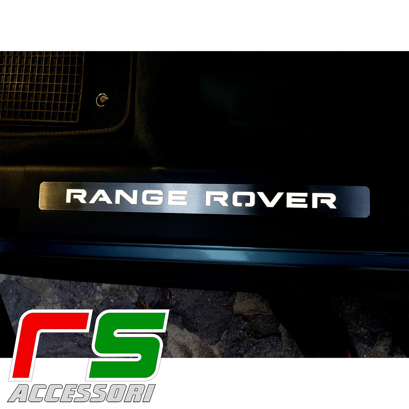 Range Rover Evoque illuminated door sill stainless steel
