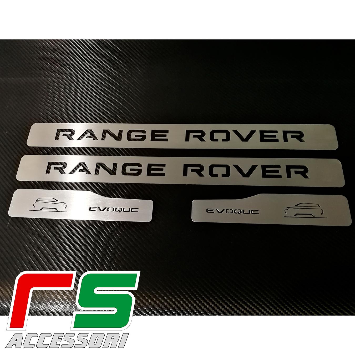 battitacco sottoporta Range Rover Evoque in acciaio inox