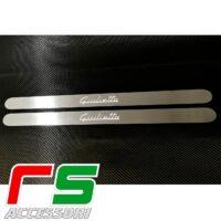 battitacco sottoporta Alfa Romeo Giulietta logo illuminato acciaio inox