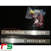 soglie battitacco anteriori illuminate Range Rover Evoque acciaio