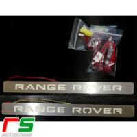 Range Rover Evoque battitacco illuminato sottoporta in acciaio inox aisi 304 con illuminazione Range Rover Evoque ED4 SD4 Dynamic Prestige Pure di facile istallazione con allegate istruzioni