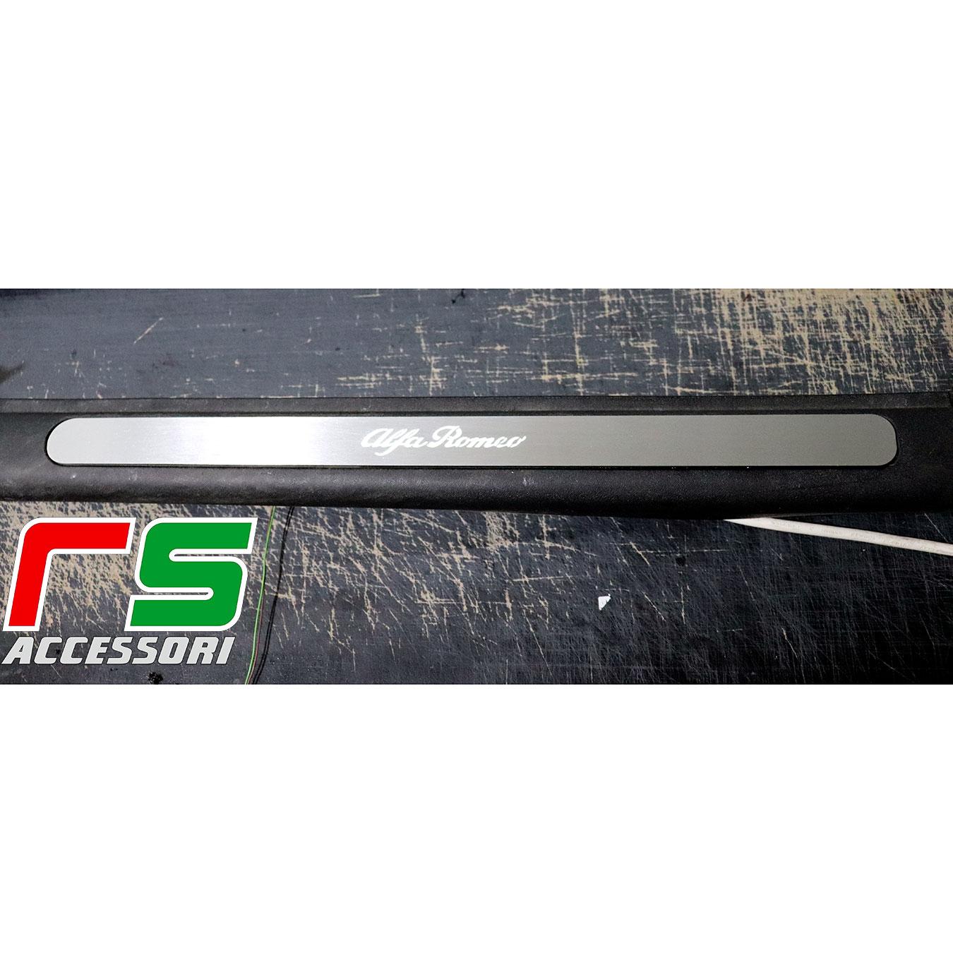 soglia battitacco sottoporta Alfa Romeo 147 5porte acciaio inox illuminato