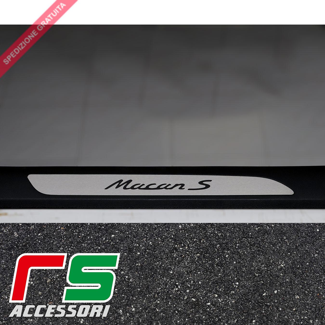 Porsche Macan S battitacco sottoporta in acciaio inox
