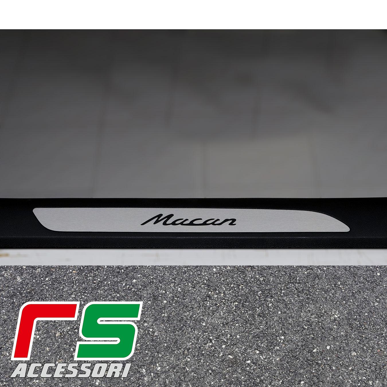 seuil de porte Porsche Macan en acier inox