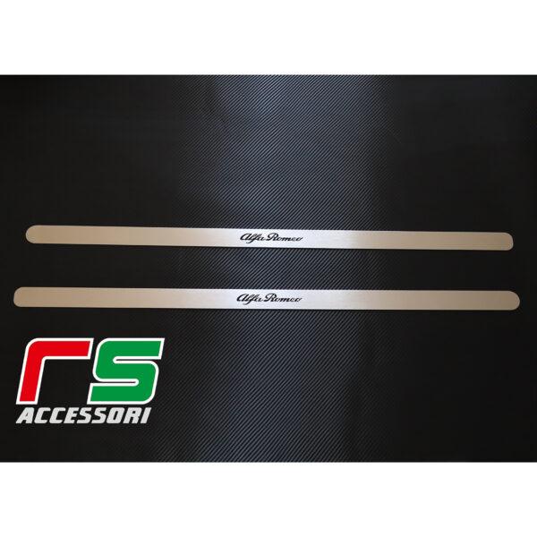 soglia battitacco sottoporta Alfa Romeo 147 3porte GT acciaio inox