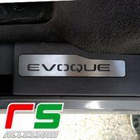 battitacco Range Rover Evoque sottoporta posteriore in acciaio