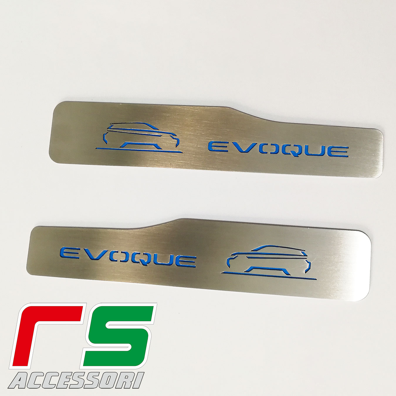 rear door sills at the rear of the Range Rover Evoque stainless steel