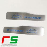 soglie battitacco posteriori illuminate Range Rover Evoque acciaio