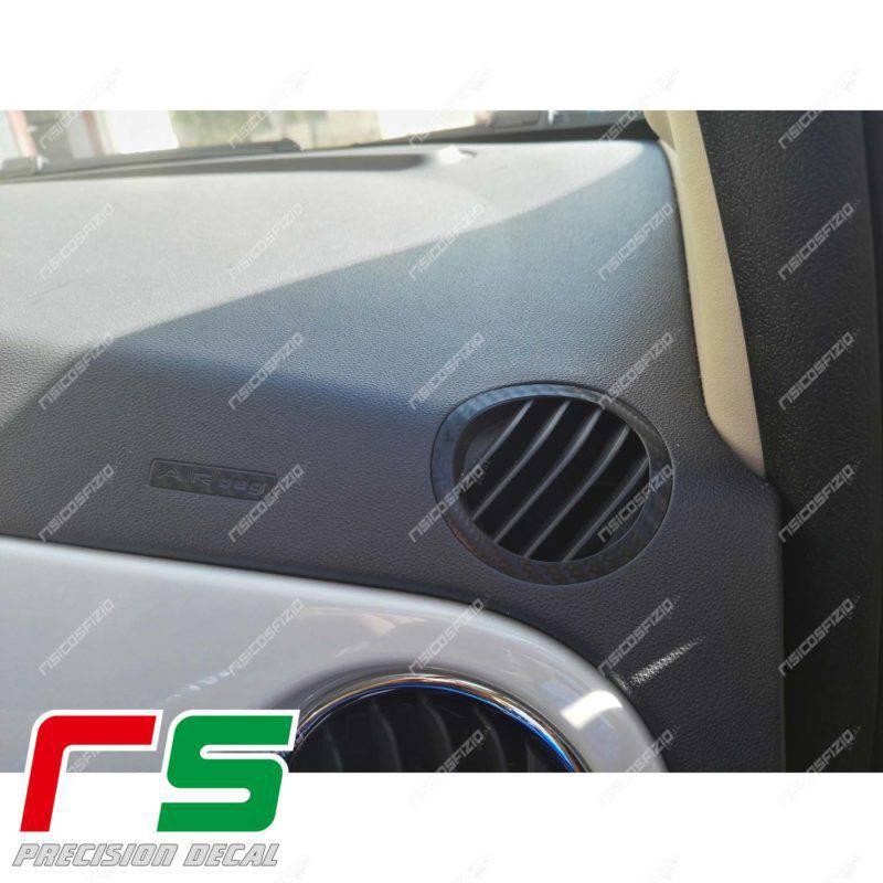 adesivi Fiat 500 Abarth Decal bocchette climatizzatore e airbag logo