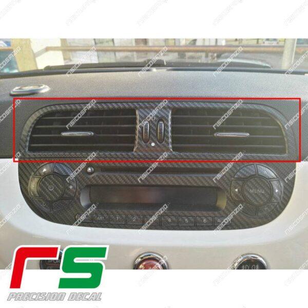 Adesivi Fiat 500 abarth Decal carbonlook bocchette climatizzatore