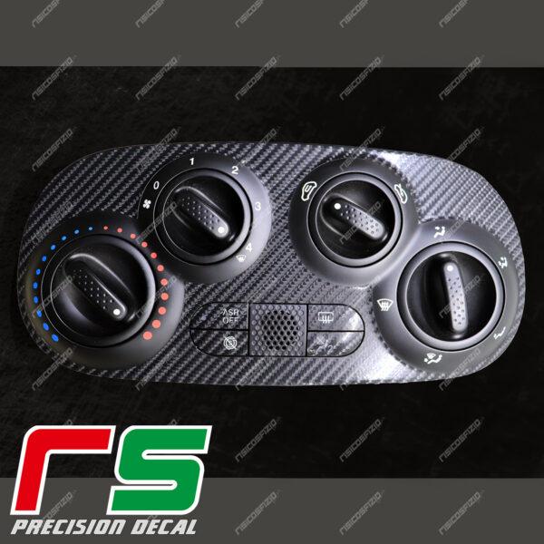 Adesivi Fiat 500 Abarth Decal carbonlook climatizzatore condizionatore