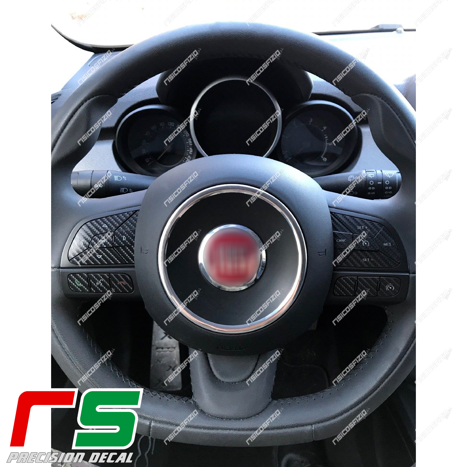 stickers Jeep Renegade Fiat 500x Type Decal carbonlook steering wheel