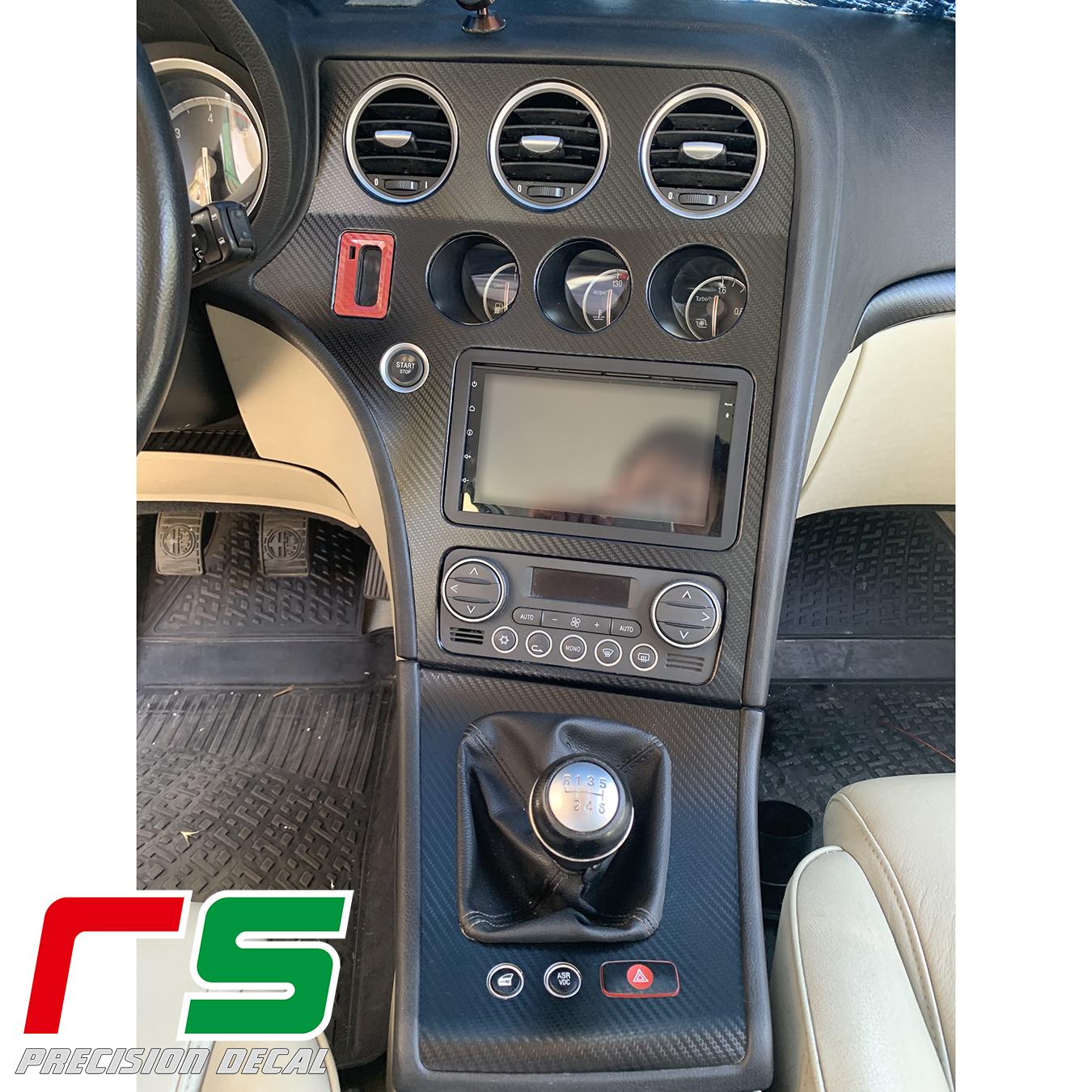 Alfa Romeo 159 Aufkleber Mittelkonsolenabdeckung Wechselrahmen