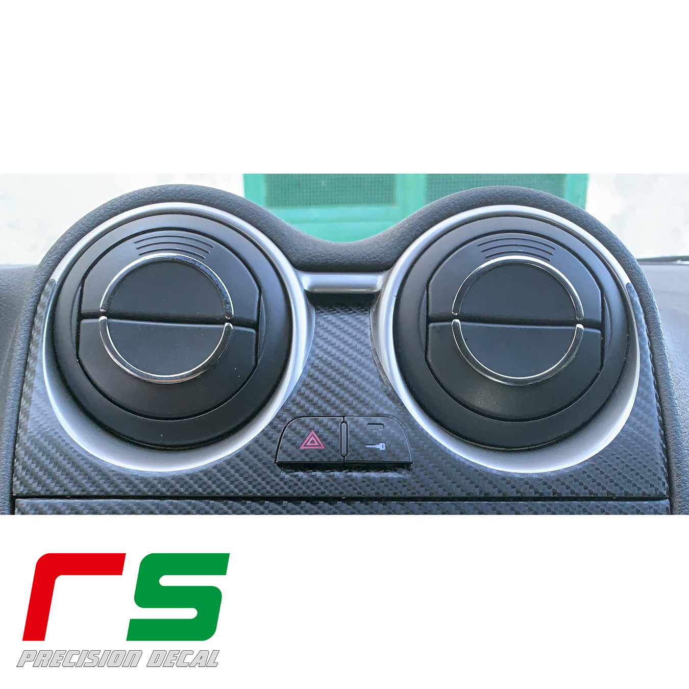 Alfa Romeo Mito Aufkleber decken Aufkleber Konsole Tuning Vents Carbonlook